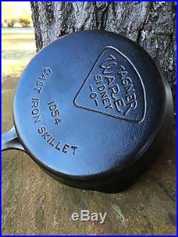 Rare Wagner Ware Sidney O Pie Logo #4 Cast Iron Skillet Very Nice