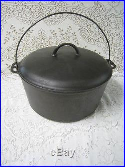 Restored Large Vintage Griswold Erie # 11 Dutch Oven # 836 with 2554 lid