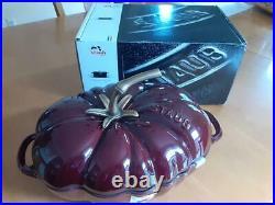 STAUB 3 QT Cast-Iron Tomato Cocotte Dutch/French Oven, Grenadine Red NIB