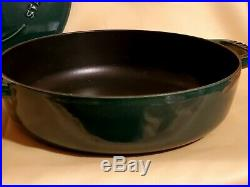 STAUB 4-Qt. Cast Iron 11 Braiser #28 Color Emerald Green