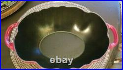 STAUB Cast Iron 3 Quart TOMATO Cocotte Cooking Pot RED