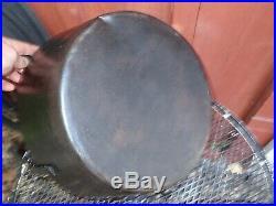 Scarce Antique 18th Century Cast Iron Double Boiler Pot Kettle Skillet Cookware