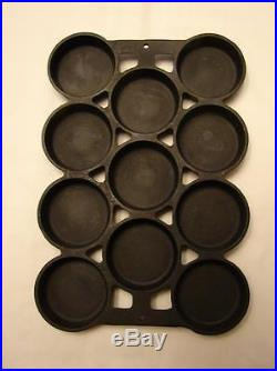 Scarce Old Griswold Slant Logo EPU Cast Iron Gem Muffin Pan No. 1, # 940