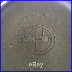 Slant Griswold cast iron #6 Flat bottom kettle. Lid #867 kettle #809 erie pot