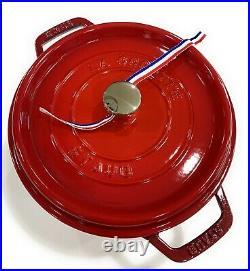 Staub 1102406 4 Quart Round Cocotte Cherry Red