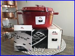 Staub 1102406 Round Cocotte Oven (Dutch Oven) 4 Quart, Cherry New