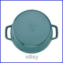 Staub 11024105 Cast Iron Round Cocotte, 4 Quart, Turquoise