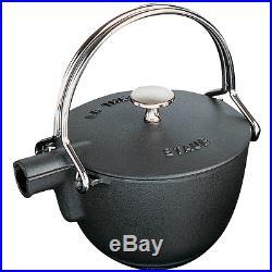 Staub Cast Iron 1-qt Round Tea Kettle