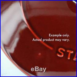 Staub Cast Iron 2.5-qt Chistera Saute Pan Visual Imperfections Basil