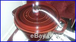 Staub Cast Iron 2.75 Qt. Round Dutch Oven (Grenadine)