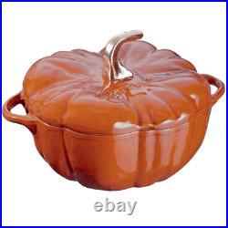 Staub Cast Iron 3.5-qt Pumpkin Cocotte