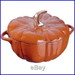 Staub Cast Iron 3.5-qt Pumpkin Cocotte Visual Impefections Burnt Orange