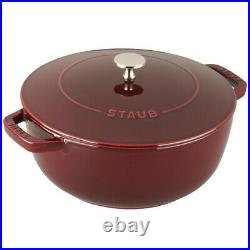 Staub Cast Iron 3.75-qt Essential French Oven Visual Imperfections Grenadine