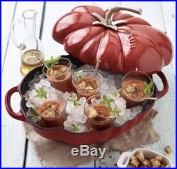 Staub Cast Iron 3qt Tomato Cocotte / Dutch Oven And Home Decor (red Cherry)
