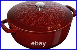 Staub Cast Iron 5-qt Essential French Oven with Lilly Lid Visual