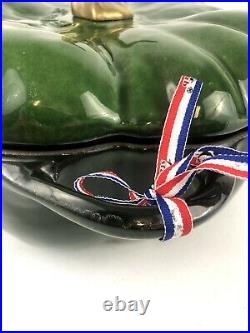 Staub Cast Iron 5-qt Pumpkin Cocotte Basil Green Extremely Rare