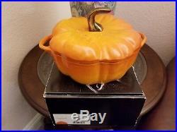 Staub Cocotte Citrouille Cast Iron Pumpkin 3.5 Quart Oven