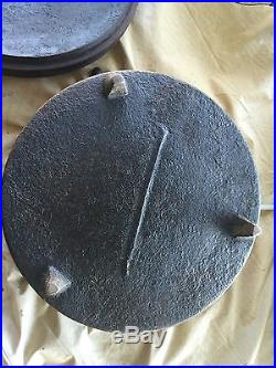 Stove Cast Iron Camp Spider Dutch Oven Pot Lid 14 IN Gate Marked 1800s RARE