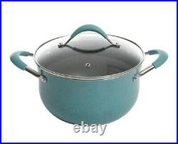 The Pioneer Woman Frontier Speckle 25-piece Nonstick & Cast Iron Cookware Combo
