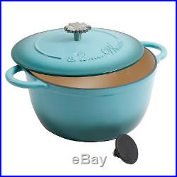 The Pioneer Woman Timeless 18-Piece Turquoise Cast Iron Essential Cooking Set