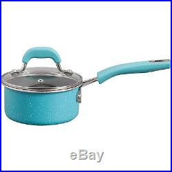 The Pioneer Woman Vintage Speckle 20-Piece Cookware Combo Set Kitchen Turquoise