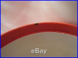 Timo Sarpaneva Rosenlew RED ENAMEL CAST IRON CASSEROLE with wood handle