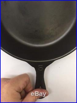 Trunz Pork Stores Cast Iron Skillet #5 Super Rare Griswold Lodge Collectors Pan