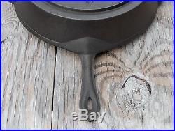 Unique Antique No. 11 13 Cast Iron Skillet with Heat Ring 1860-1880
