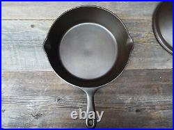 Unmarked Wagner 11 Cast Iron Deep Skillet / Chicken Fryer with Lid, restored