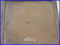 VERY RARE Cast Iron WAGNER WARE Sidney Ohio FRYER PAN #1428