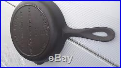 VICTOR GRISWOLD Holy Grail MOST RARE #5 Cast Iron Skillet Heat Ring Fully Marked
