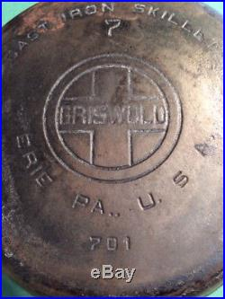 VINTAGE 1930's GRISWOLD SKILLET SET with one Pre Griswold 1800's Erie #8