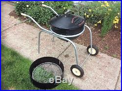Vintage Cook'n' Kettle Sr 59 Cast Iron Bbq Grill With Cart, Refurbished, Nice