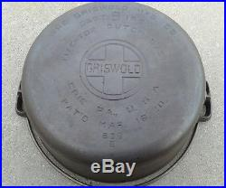 VINTAGE GRISWOLD Cast Iron DUTCH OVEN 8 with Tite-top