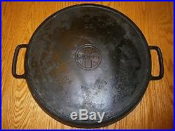 VINTAGE GRISWOLD ERIE PA 728 two handled CAST IRON SKILLET #20