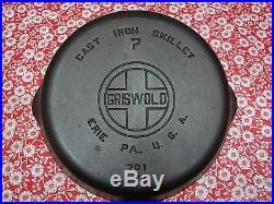 Vintage Griswold Large Block Logo Cast Iron Skillet Set. # 3, 4, 5, 6, 7, 8, 9
