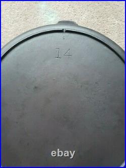 VTG. #14 3 Notch Lodge Skillet withLid Fully Restored Circa 1940's