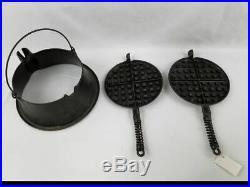 VTG 1925 Wagner Ware Sidney O Cast Iron Size No 8 Waffle Iron 1408 Waffle Maker