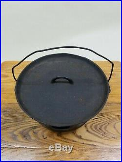 VTG GRISWOLD 310 CAST IRON CHUCK WAGON CAMP DUTCH OVEN With #10 LID LEGS TITE-TOP