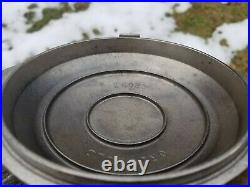 Very Hard To Find Griswold Hammered Cast Iron #3 Plated Hinged LID No. 2093