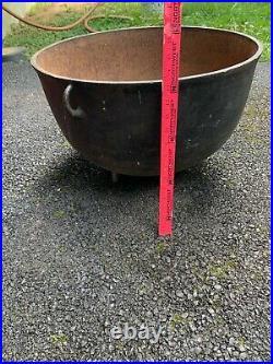 Very Large Antique Three-Legged Cast-Iron Cauldron