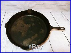 Very Large Old Wagner Cast Iron #14 Skillet 15 1/4 inch