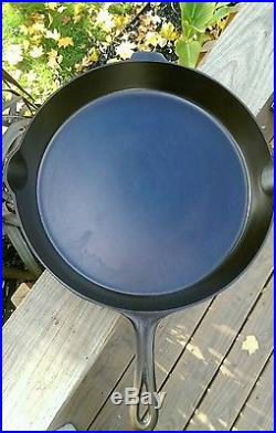 Very Nice Griswold #14 LBL Cast Iron Skillet with Heat Ring P/N 718A EPU