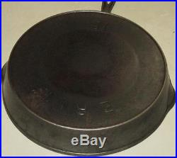 Very Rare Erie Pre Griswold Logo Cast Iron Pan Skillet with Heat Ring #12