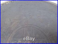 Very Rare Large Griswold Cast Iron #13 Skillet Slant Logo