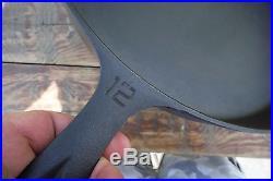 Vintage 12 GRISWOLD Cast Iron SKILLET Frying Pan Large Block Logo EPU EXC