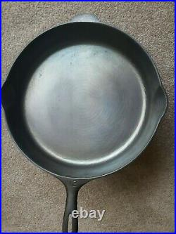 Vintage #12 Unmarked Wagner Cast Iron Skillet Fully Restored and Seasoned