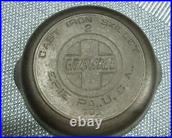 Vintage #2 Griswold cast iron skillet with slant Logo P/N 703