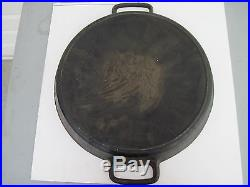 Vintage 20 SK LODGE Cast Iron Double Handle Skillet Free Shipping