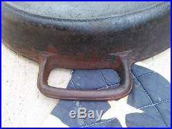 Vintage 20 SK Lodge Cast Iron Double Handled Hotel Pan Skillet Free Shipping